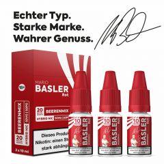 MARIO BASLER Rot Nikotinsalz Liquid 10 ml - 20mg - 3er Pack