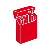 Open cigarette packet illustration